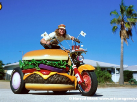 Hamburger Harley Art Car by Harry Sperl
