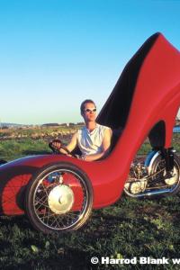 Red Stiletto Art Car By David Crow