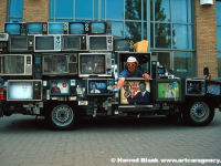 TV Truck Art Car By Dan Lohaus