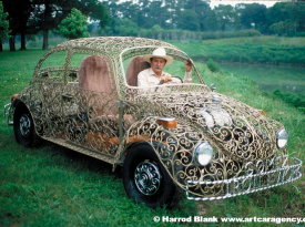 Wrought Iron VW Art Car By Joe Gomez