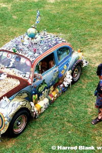 Balance Two Sides To Every Story Art Car by Kelly Israel