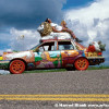 Fortune Telling Lion Art Car by Gretchen Baer
