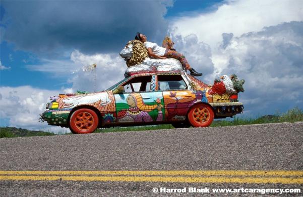 Fortune Telling Lion Art Car by Gretchen Baer
