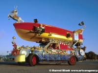 House Boat Art Car by Rockette Bob