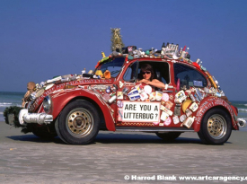 Litter Bug Art Car by Carolyn Stapelton