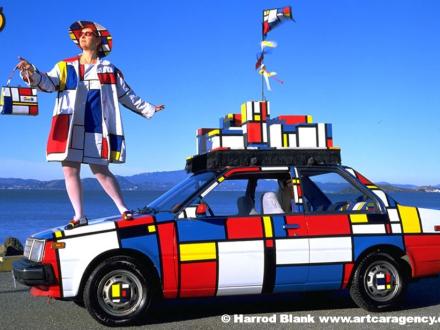 Mondrian Mobile Art Car by Emily Duffy