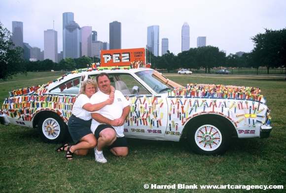 Pez Car Art Car by Cliff Lee