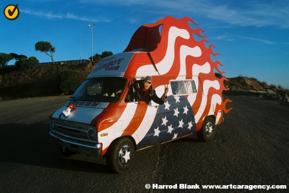Pissed Off Patriot Art Car by David Crow