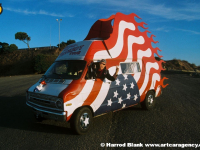 Pissed Off Patriot Art Car by David Crow