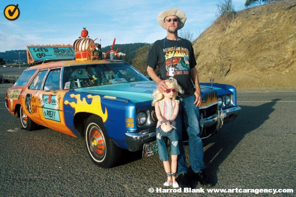 Reverend Bill's Bible Camp Art Car by Reverend Linville
