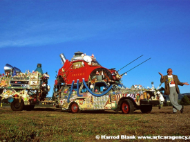 Santa Bug Art Car by Rockette Bob