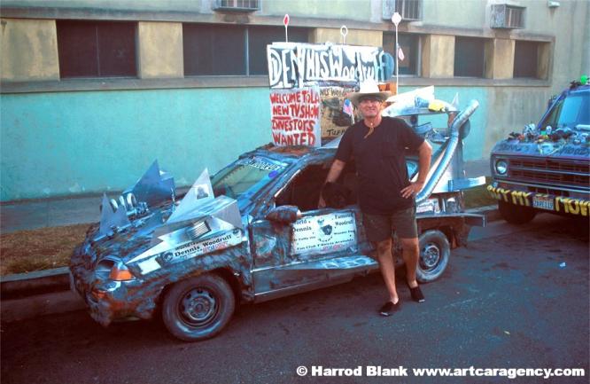 Woodruff Space Car Art Car by Dennis Woodruff