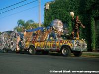 Woodruff Truck and Trailer Art Car by Dennis Woodruff