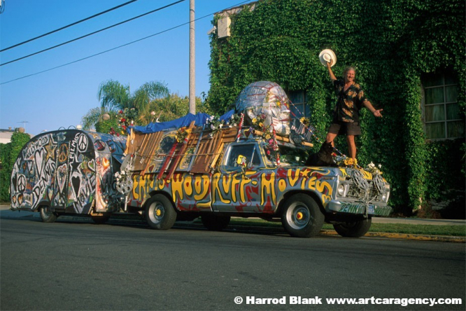 Woodruff Truck and Trailer Art Car by Dennis Woodruff