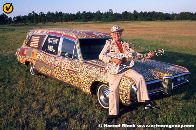 Button Hearse Art Car by Dalton Stevens
