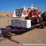Salvation Mountain Tractor and Trailer