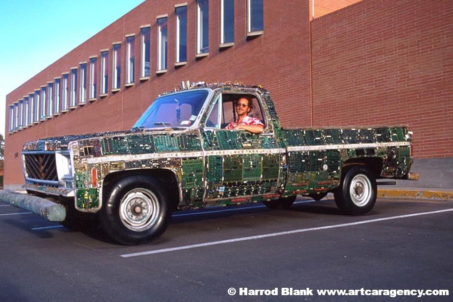 Circuit Board Truck Art Car by Doc Atomic | Art Car Agency